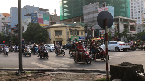 Hanoi's roads filled with motorbikes
