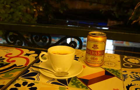 Egg coffee and Hanoi beer