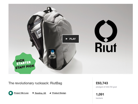 My first Kickstarter campaign - RiutBag antitheft backpack