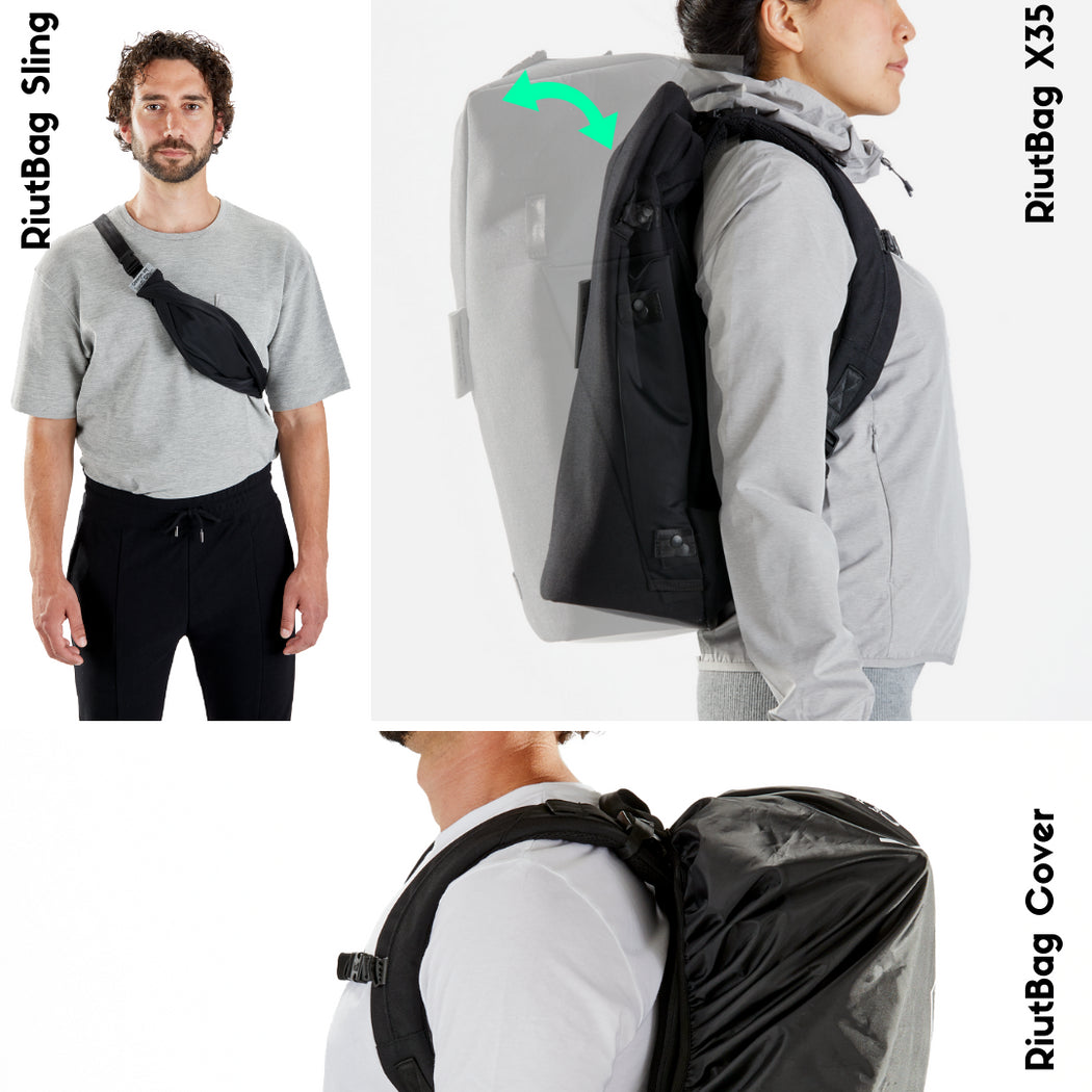 "RiutBag X25 | Convertible secure backpack for 15"" laptop"