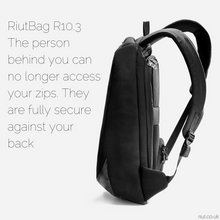 Load image into Gallery viewer, RiutBag anti theft backpack slim thin laptop bag travel bag 2020 black backpack
