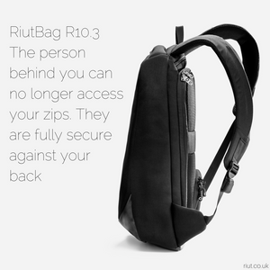RiutBag anti theft backpack slim thin laptop bag travel bag 2020 black backpack