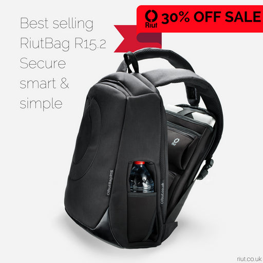 "RiutBag R15.2 | Secure backpack for 15"" laptop"