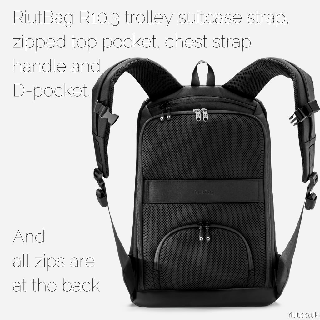 high security laptop backpack riutbag