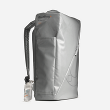 Load image into Gallery viewer, designer grey space age backpack future functional astronaut space cadet