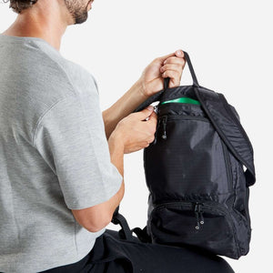 anti theft lightweight backpack small black riutbag crush for men 14 litres
