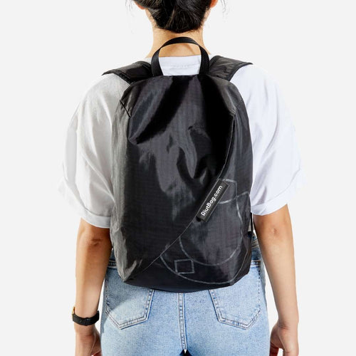 lightweight backpack small black riutbag crush for women 14 litres