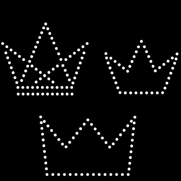 Simple crowns rhinestone template, svg, eps, studio3, png, dxf - rhinestone templates