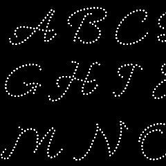 Handwritten Alphabet rhinestone templates, circle monogram frames digital download, svg, eps,, png, dxf - rhinestone templates