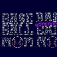 2 Baseball MOM, baseball, ball, softball, mom, bat rhinestone templates, svg, eps, png, dxf - rhinestone templates