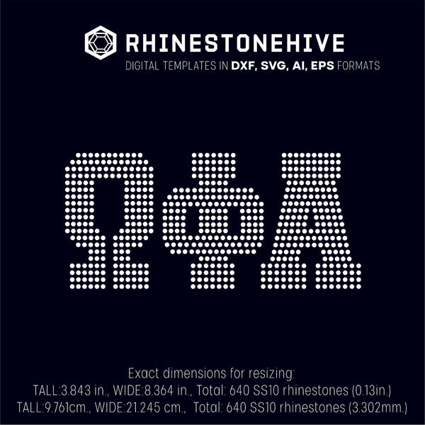 Omega Phi Alpha rhinestone template digital download, ai, svg, eps, png, dxf - rhinestone templates