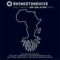 Africa roots rhinestone template digital download, ai, svg, eps, png, dxf - rhinestone templates