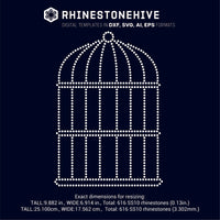 Bird cage rhinestone template digital download, ai, svg, eps, png, dxf - rhinestone templates
