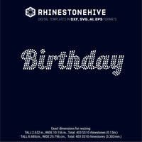 Birthday rhinestone template digital download, ai, svg, eps, png, dxf - rhinestone templates