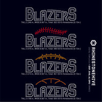 Blazers team baseball, football, basketball, sport digital rhinestone templates, ai, svg, eps, png, dxf - rhinestone templates