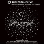 Blessed scattered rhinestone template digital download, ai, svg, eps, png, dxf - rhinestone templates