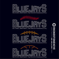 Bluejays team baseball, football, basketball, sport digital rhinestone templates, ai, svg, eps, png, dxf - rhinestone templates