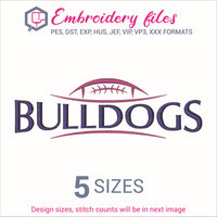 Bulldogs Football Embroidery in DST, EXP, HUS, JEF, PCS, PES, SEW, VIP, VP3 & XXX - rhinestone templates