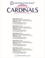 Cardinals Football Ball Embroidery in DST, EXP, HUS, JEF, PCS, PES, SEW, VIP, VP3 & XXX - rhinestone templates