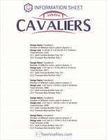 Cavaliers Football Embroidery in DST, EXP, HUS, JEF, PCS, PES, SEW, VIP, VP3 & XXX - rhinestone templates