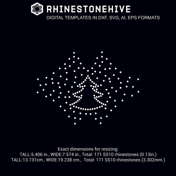 3 Face mask Christmas tree face mask rhinestone templates digital download, ai, svg, eps, png, dxf