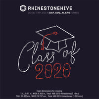 Class of 2020, Graduate rhinestone template digital download, ai, svg, eps, png, dxf - rhinestone templates