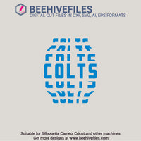 Colts team name stacked 6 styles in svg, dxf, png, ai, eps format - rhinestone templates