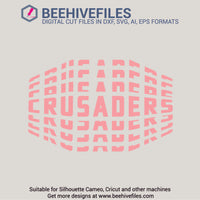 Crusaders team name stacked 6 styles in svg, dxf, png, ai, eps format - rhinestone templates