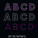 Bold outline letters Alphabet, svg, eps, png, dxf rhinestone template - rhinestone templates