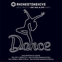 Dance dancer outline rhinestone template digital download, ai, svg, eps, png, dxf - rhinestone templates