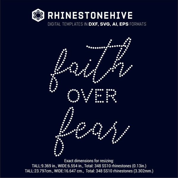 Faith over fair rhinestone template digital download, ai, svg, eps, png, dxf - rhinestone templates