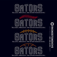 Gators team baseball, football, basketball, sport digital rhinestone templates, ai, svg, eps, png, dxf - rhinestone templates