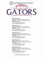 Gators Football Ball Embroidery in DST, EXP, HUS, JEF, PCS, PES, SEW, VIP, VP3 & XXX - rhinestone templates