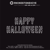 Happy Halloween rhinestone template svg, eps, png, dxf - rhinestone templates
