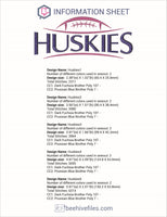 Huskies Football Ball Embroidery in DST, EXP, HUS, JEF, PCS, PES, SEW, VIP, VP3 & XXX - rhinestone templates