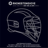 Lacrosse helmet rhinestone template digital download, ai, svg, eps, png, dxf - rhinestone templates