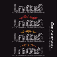 Lancers team baseball, football, basketball, sport digital rhinestone templates, ai, svg, eps, png, dxf - rhinestone templates