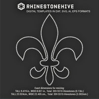 Mardi Gras Fleur-de-lis outlined rhinestone template digital download, svg, eps, ai, png, dxf - rhinestone templates