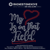 My heart is on that field Baseball digital rhinestone templates, ai, svg, eps, png, dxf - rhinestone templates