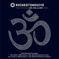 Om, Ohm, Om Symbol, Meditation, Yoga rhinestone template digital download, svg, eps, ai, png, dxf - rhinestone templates