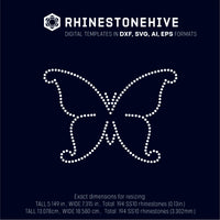 Butterfly rhinestone template digital download, ai, svg, eps, png, dxf - rhinestone templates