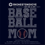 Baseball mom rhinestone template digital download, ai, svg, eps, png, dxf - rhinestone templates