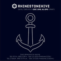 Anchor rhinestone template digital download, ai, svg, eps, png, dxf - rhinestone templates