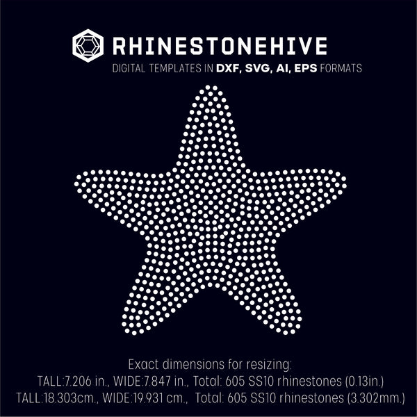 Star round shape rhinestone template digital download, ai, svg, eps, png, dxf - rhinestone templates