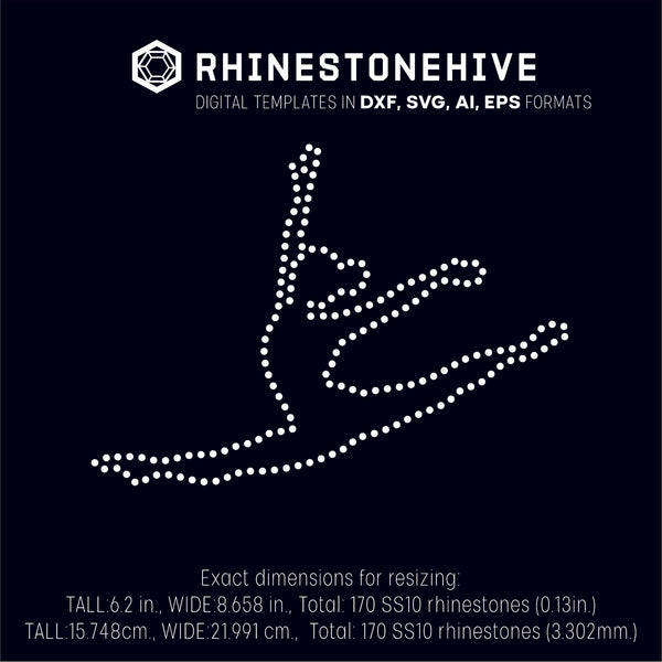 Dance jump rhinestone template digital download, ai, svg, eps, png, dxf - rhinestone templates