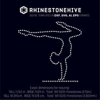 Standing on hands rhinestone template digital download, ai, svg, eps, png, dxf - rhinestone templates