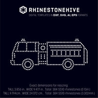 Fire rescue truck rhinestone template svg, eps, ai, png, dxf - rhinestone templates