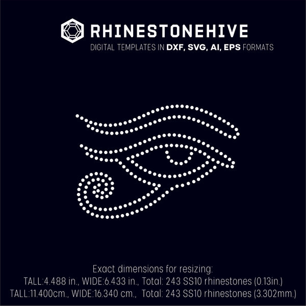 Egypt, Egyptian, eye rhinestone template digital download, ai, svg, eps, png, dxf - rhinestone templates