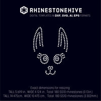 Llama face rhinestone template digital download, ai, svg, eps, png, dxf - rhinestone templates