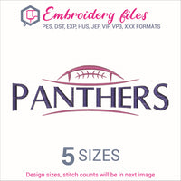 Panthers Ball Embroidery in DST, EXP, HUS, JEF, PCS, PES, SEW, VIP, VP3 & XXX - rhinestone templates